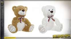 PELUCHE POLYESTER 38X24X38 OURS 2 MOD.
