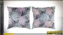 COUSSIN POLYESTER 45X45 571 GR. FEUILLES 2 MOD.