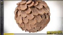 BOULE DECO SET 3 NATUREL ANANAS 10X10 NATUREL
