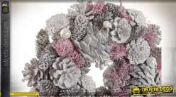COURONNE ANANAS POLYSTYRENE 26X26X7.5 ROSE