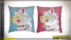 COUSSIN GEMMES POLYESTER 40X40 370 GR. LAMA 2 MOD.