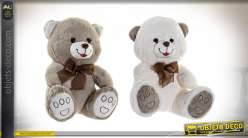 PELUCHE POLYESTER 26X23X28 OURS 2 MOD.