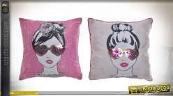 COUSSIN POLYESTER 40X40 300GR. FILLE FASHION 2 MOD