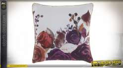 COUSSIN POLYESTER 40X40 400 GR. FLORAL VELOURS
