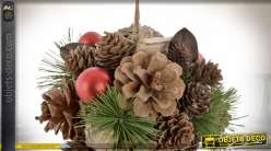 BOULE DECO ANANAS 14X14 NATUREL