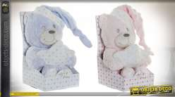 PELUCHE POLYESTER 10X10X15 OURS 2 MOD.