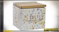 SALIERE DOLOMITE BAMBOU 11X11X11 750 NATUREL
