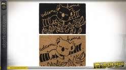 Serie de deux paillassons en fibres naturelles de coco, motifs koala