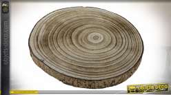 CENTRE DE TABLE PAULOWNIA 30X30X3 NATUREL
