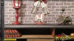Statuette en bois d'un cheval à bascule, style vintage, décoration de Noël, 21cm
