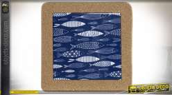 SET DE TABLE GRES LIEGE 20X20X1,5 POISSONS BLEU