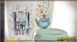 MUG PORCELAINE 9,5X9,5X14 400 ML. COOK WITH LOVE 2