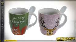 MUG PORCELAINE 8,5X5,5X10 360ML ANIMAUX 4 MOD.