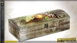 Coffret corsaire en bois peint et fer