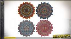 SET DE TABLE DOLOMITE 20X20X1 MANDALA 4 MOD.