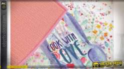 TAPIS MICROFIBRE 40X48 0,09 COOK WITH LOVE 2 MOD.