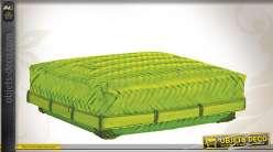 Coffret 25 x 25 en bambou teinté vert