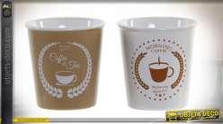 MUG GRES 8X8X8,5 250ML CAFÉ 2 MOD.