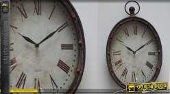 Horloge ovale style montre à gousset vintage