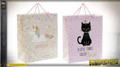 SAC PAPIER 26X13X32 157 GR. CHAT SUPER 2 MOD.