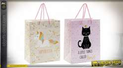 SAC PAPIER 18X10X23 157 GR. CHAT SUPER 2 MOD.