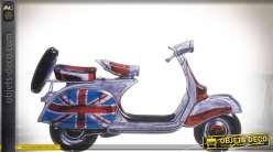 Décoration murale en métal Scooter So British 60 cm