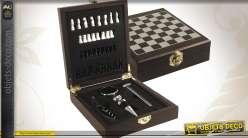 Coffret 4 accessoires de cave + jeu d'échecs