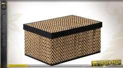 Série de trois boîtes décoratives en jacinthe