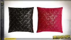 COUSSIN POLYESTER 45X10X45 550 GR. FEUILLES 2 MOD.
