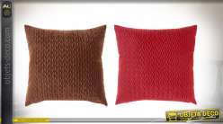 COUSSIN POLYESTER 45X45 485 GR. VELOURS 2 MOD.