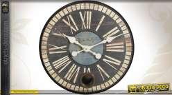 Horloge rétro en métal avec balancier