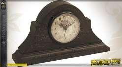 Horloge de cheminée en bois style vintage