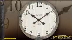 Horloge en bois de style rétro Ø 50 cm