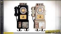 PORTEMANTEAU MÉTAL 16X6X29 TÉLÉPHONE 2 MOD.