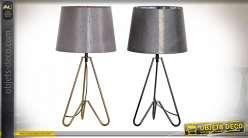 LAMPE DE TABLE MÉTAL POLYESTER 23X23X56 MAT 2 MOD.
