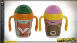 MUG BAMBOU RECYCLÉ 12X8X13 300ML. ANIMAL 2 MOD.