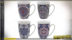 TASSES A THE PORCELAINE 12X8,3X11 380ML. MANDALA