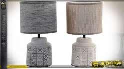LAMPE DE TABLE ARGILE 18X18X32 2 MOD.
