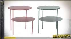 TABLE AUXILIAIRE MÉTAL 49X42X45 DOUBLE 2 MOD.