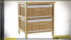 COMMODE BAMBOU PAULOWNIA 42X32X45 NATUREL