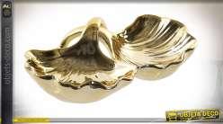 PLATEAU VIDE POCHE PORCELAINE 19X14,5X5 FEUILLES