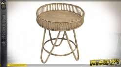 TABLE AUXILIAIRE ROTIN BAMBOU 52X59 NATUREL