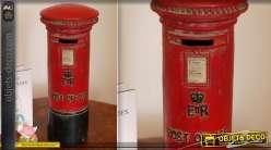 Déco boîte aux lettres Royal Mail tirelire rouge