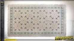 TAPIS COTON 230X160X1,5 CARRELAGE GRENAT