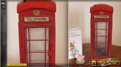 Objet déco Miniature d'une cabine de téléphone anglais
