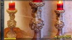 Bougeoir décoratif écureuil (37 cm)