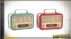 DÉCORATION MÉTAL LED 19X8X16 RADIO 2 MOD.
