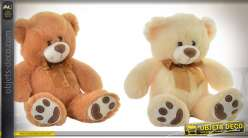 PELUCHE POLYESTER 25X20X25 OURS 2 MOD.