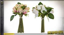 BOUQUET PVC POLYESTER 17X17X26 ROSES 2 MOD.