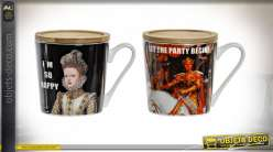 MUG INFUSIONS PORCELAINE 13X9,5X10 400 ML. ART FUN